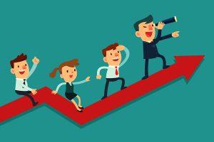 Businessman Leading His Team To Success